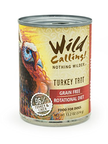 Wild Calling! – Turkey Trot 96% Turkey, Natural Flavor, Wet Canned Dog Pet Food – Grain and Gluten-Free – 12 x 13 Ounce Review