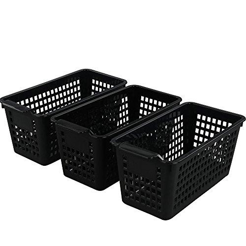 Begale Plastic Storage Trays Basket for Kitchen, Bathroom Organizer, Set of 3