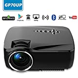 Shopping Tadka GP70UP Android WiFi Bluetooth Support Full HD 1080P, Multimedia Mini Pro Portable LED Projector For Home Theater Movie Video Games