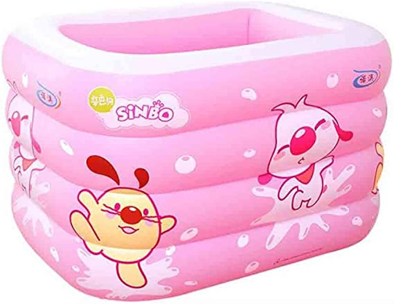DALL Piscinas hinchables Piscina Inflable, Piscina para Niños, Bañera para Niños, Piscina De Ducha Rectangular Plegable (Color : Pink, Size : 115×95×75 cm): Amazon.es: Hogar