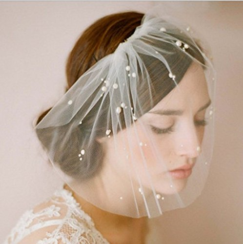 ng Short Veil for Bride Women's Handmade Wedding Headband (Wedding Veil Headband)