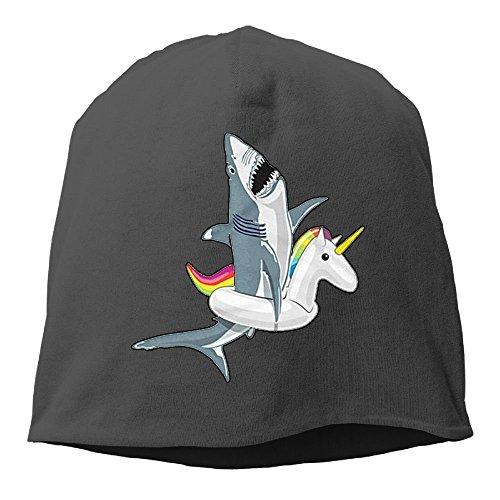 Funny Shark Unicorn Gifts Women/Men Wool Hat Soft Stretch Beanies Skull Cap Unisex Black