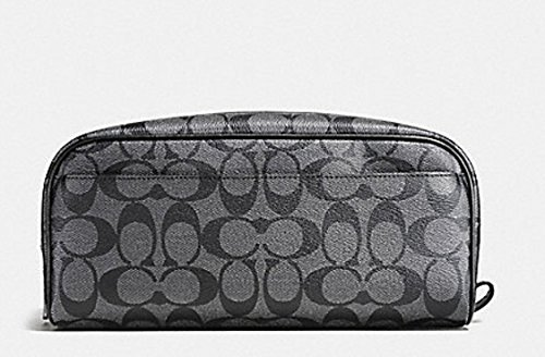 Coach Mens Toiletry Travel Kit in Signature Black/Gray F58540 by Coach