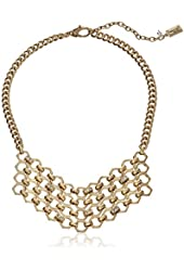 """Kenneth Cole New York """"Honeycomb"""" Pave Geometric Chain Necklace, 17"""" + 3"""" Extender"""