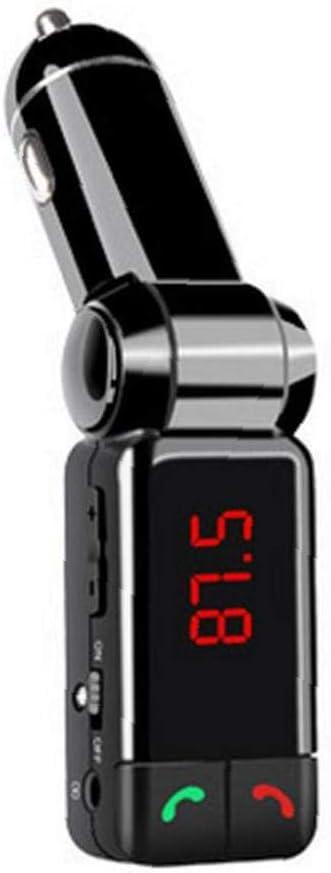 Receptor de coche Bluetooth FM Transmisor inalámbrico para coche Bluetooth Stereo Radio Reproductor MP3 Adaptador USB Dual Soporte cargador de coche manos libres de llamadas para teléfonos móviles N