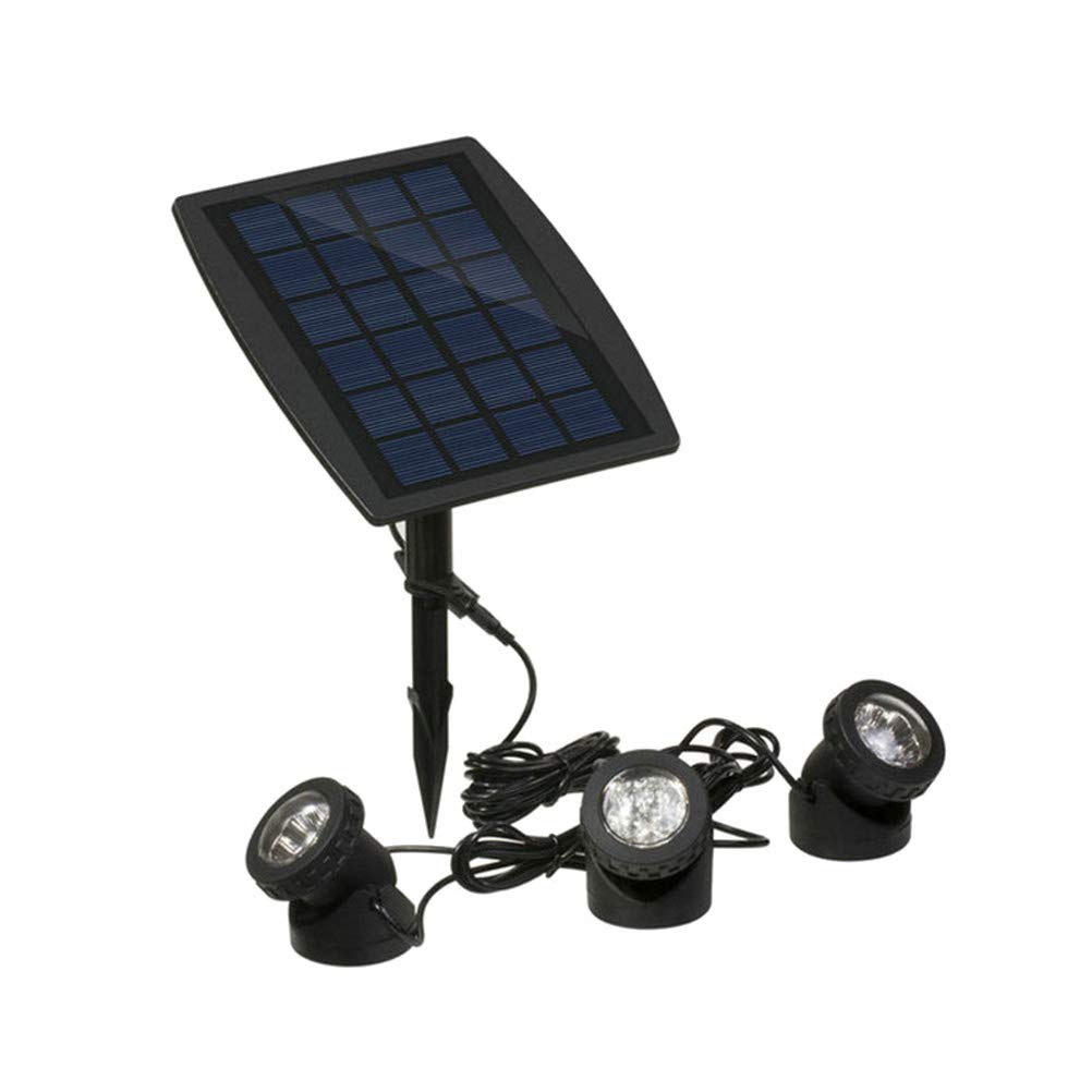 Mobestech LED Flood Light Submersible Pond Lights with 3 Lamps for Water Garden Outdoor Decoration