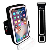 iPhone X/10 Running Armband. Sports Phone Holder Case for Joggers, Fitness, Gym Workouts & Outdoor Exercise (Small 9'' - Large 20'' Arms)