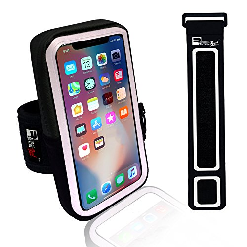 iPhone X/10 Running Armband. Sports Phone Holder Case for Joggers, Fitness, Gym Workouts & Outdoor Exercise (Small 9'' - Large 20'' Arms) by Revere Sport