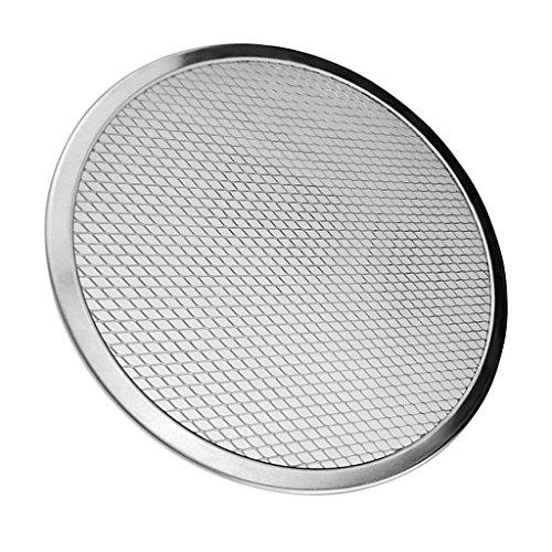 MagiDeal Aluminium Pizza Baking Tray 6inch -17inch Flat Screen Wire Mesh Food Crisper - 7inch (Round Pizza Screens)