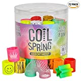 ArtCreativity Coil Spring Assortment Mini Slinky Mega Set (pack of 72) | Includes Plastic Tube for Easy Storage | Fun Activity and Party Favor for Kids Ages 3+