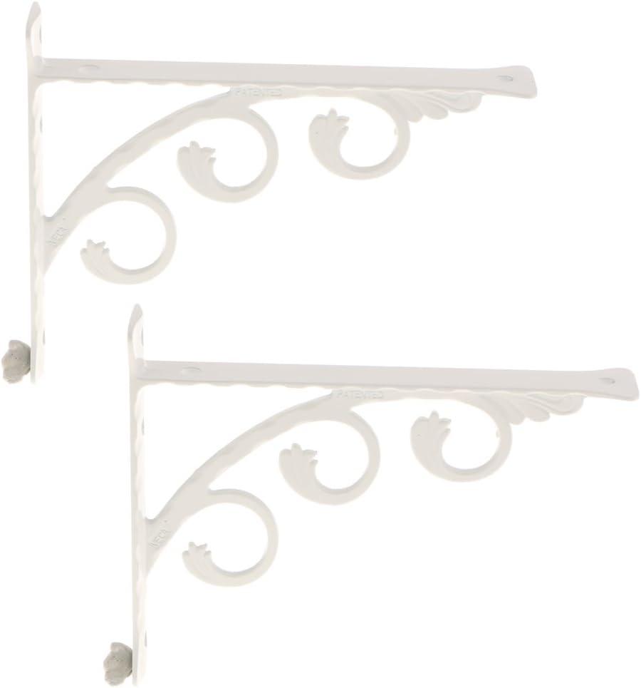Triangel Regalhalterungen Kitchen Home Metal Wall Mounted Support LOVIVER Pack 2 12x15cm