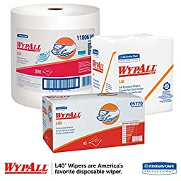 WypAll L40 Disposable Cleaning and Drying Towels \