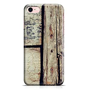 Loud Universe iPhone 7 Case Old Barn Door Wood Print Rustic Effect Clear Edge Durable Wrap Around iPhone 7 Cover