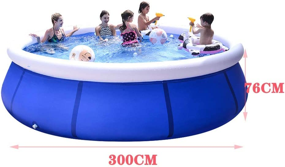 Garden Adult Childrens Paddling Pool JOYGOOD Inflatable Pools Thick Outdoor Inflatable Swimming Pool Color : Blue, Size : 6ft Automatically Float Up Round Outdoor Pool Large Capacity 1-9 People