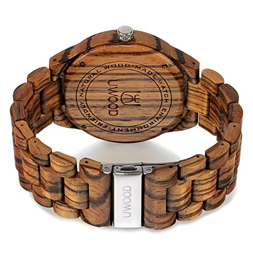 Uwood Zebra Sandal Wooden Watch
