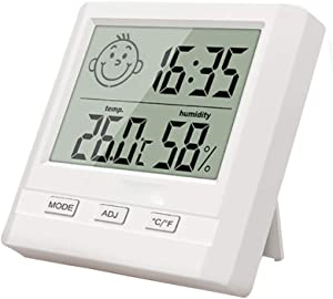 Time C club Digital Hygrometer Indoor Thermometer, Cigar Cabinet Thermometer, Accurate Temperature Humidity Monitor Meter for Home, Office, Greenhouse, Cigar Box Thermometer
