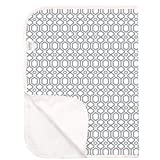 Kushies Baby Deluxe Terry Change Pad, Grey Octagon