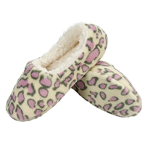 Zegee Womens Indoor Soft Slippers Non-Slip Sole Cozy Warm Slip-On House Bedroom Fuzzy Slippers (S 5-6, ()