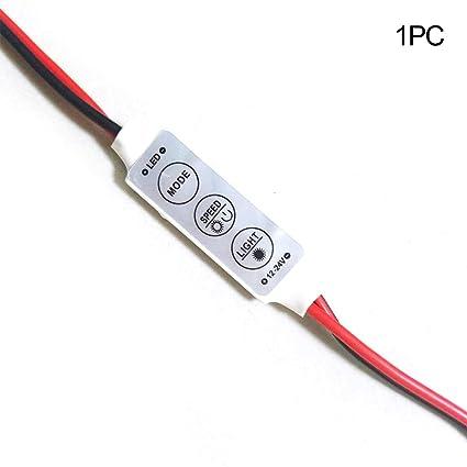 competitive price 4516d f8c42 Amazon.com : Tubwair 12/ 24V Mini LED Strip Controller ...