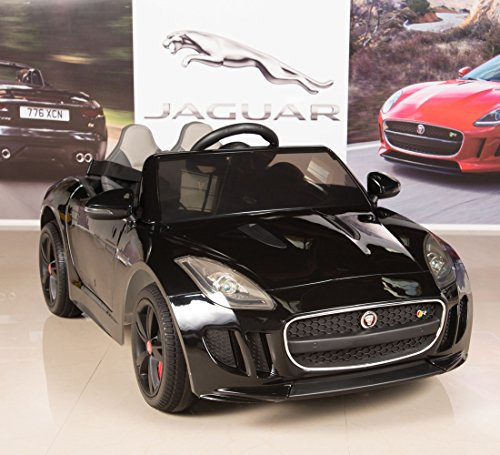 Jaguar F-TYPE 12V Kids Ride On Battery Powered Wheels Car with 2.4GHz RC Remote, Black (Gas Lamborghini Powered Rc)
