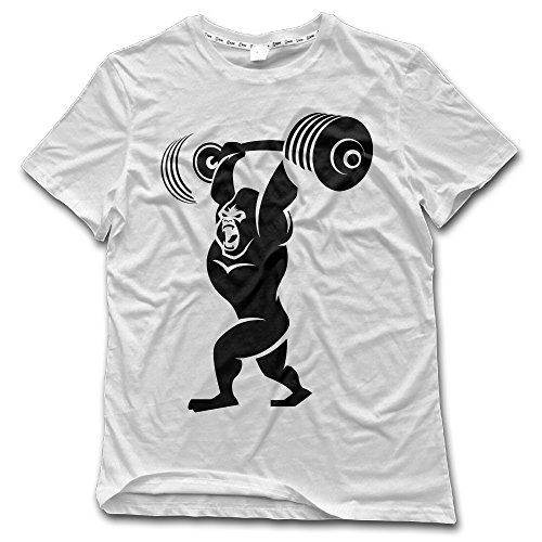 Fony Men's Gorilla Weight Lifting Short Sleeve Vintage Shirt