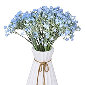 Anna Homey Decor Fake Flowers 24 Pcs Artificial Baby Breath Flowers 3 Forks Plastic Bouquet Bush Gypsophila Artificial 71