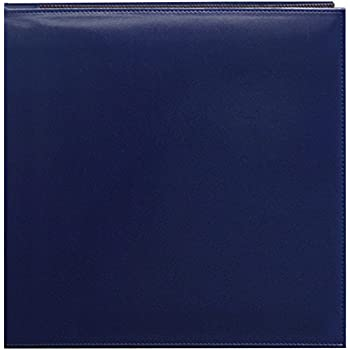 Pioneer 12 Inch by 12 Inch Snapload Sewn Leatherette Memory Book, Navy Blue