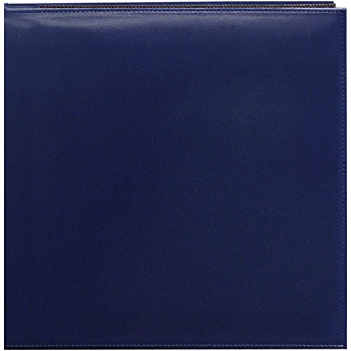 - Pioneer 12 Inch by 12 Inch Snapload Sewn Leatherette Memory Book, Navy Blue