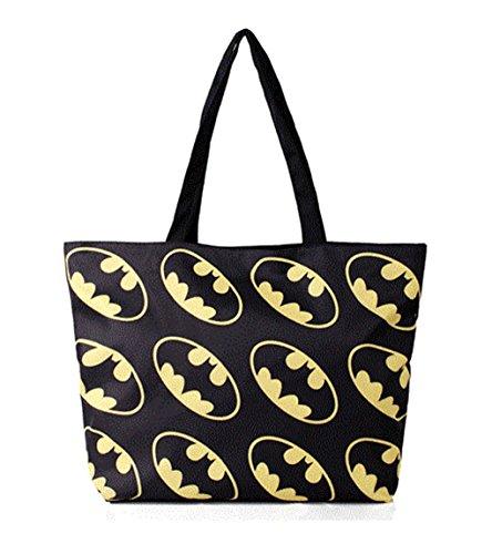 2017 borsa popolare caldo popolare stampa borsa a tracolla Batman Logo (nero)