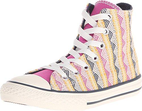 Converse Kids Chuck Taylor All Star Hi Plastic Plastic Pink Basketball Shoe 1.5 Kids US