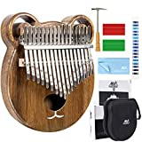 AKLOT Kalimba 17 Keys Thumb Piano Finger Piano Professional African Instrument Solid Wood with Protective Case Online Lesson Tuning Hammer Study Booklet for Kids Adult Gift…