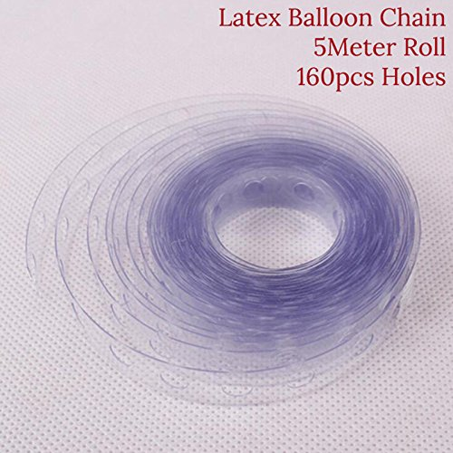 5M/roll Wedding Decor Helium Latex Balloon Transparent PVC Rubber Chain Air Balloon Arch Chain Birhday Party Supplies DIY