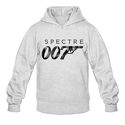 TIKE Men's Spectre 007 Revolver Hood Sweatshirt Color Ash Size L