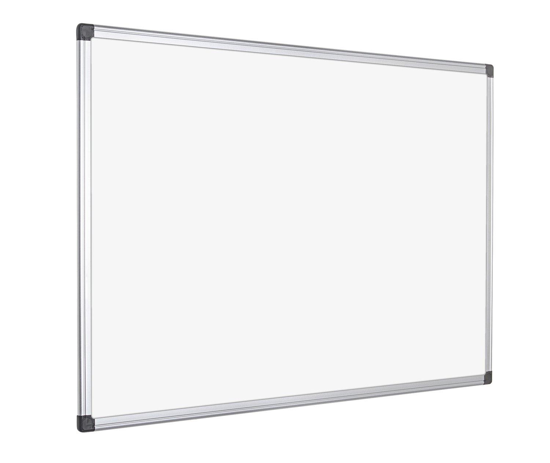 Bi Office Maya Pizarra blanca magnética con marco de aluminio x mm