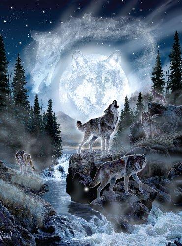 Andrews + Blaine Ltd Moon Wolf - 1,000 Pc Puzzle