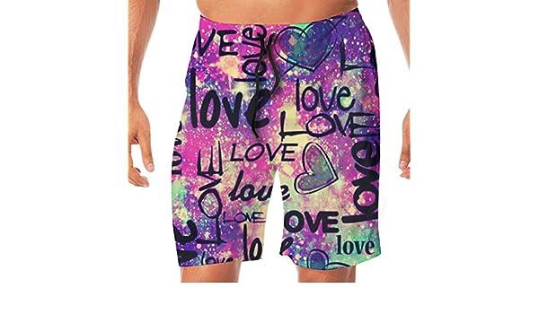 Tyugvvo Happy Valentines Day Funny Swim Trunks Quick Dry Beachwear Sports Running Swim Board Shorts Mesh Lining