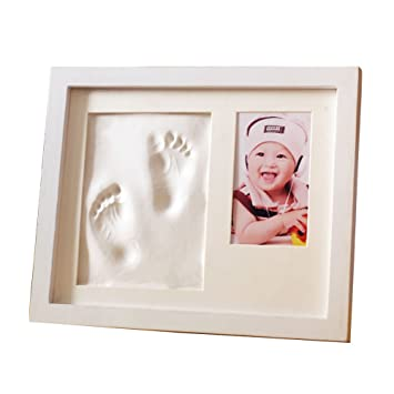 amazon com childhood baby handprint and footprint frame kit