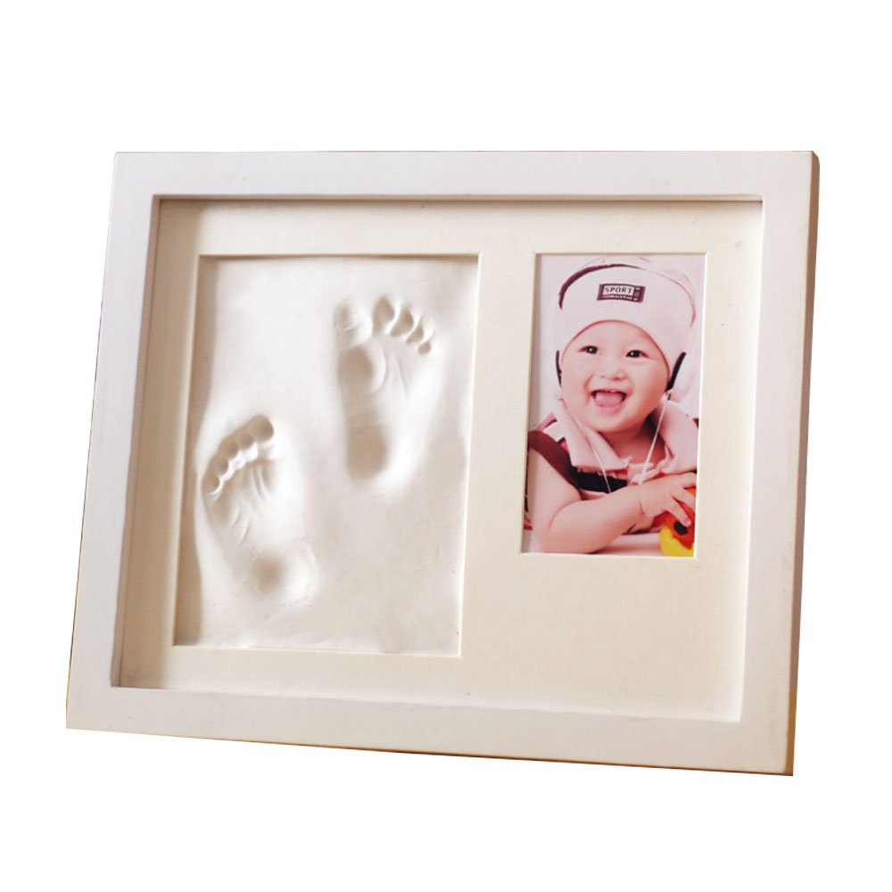 CHILDHOOD Baby Handprint and Footprint Frame Kit-Perfect Baby Boy/Girl Shower Gifts
