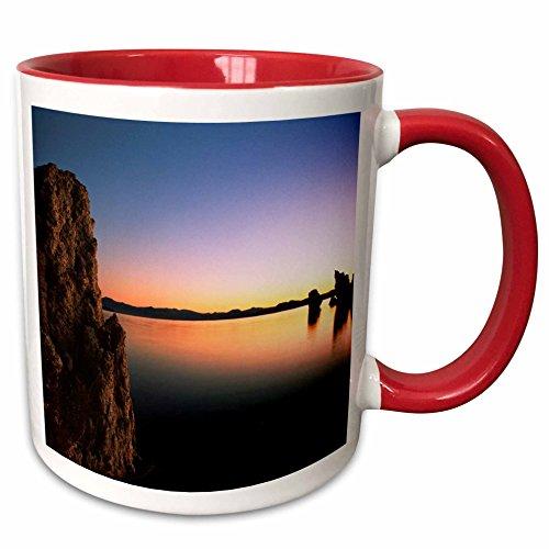 (3dRose Danita Delimont - Lakes - Tufa rock formation, Mono Lake, California, USA - US05 IHO0178 - Inger Hogstrom - 15oz Two-Tone Red Mug (mug_142719_10))