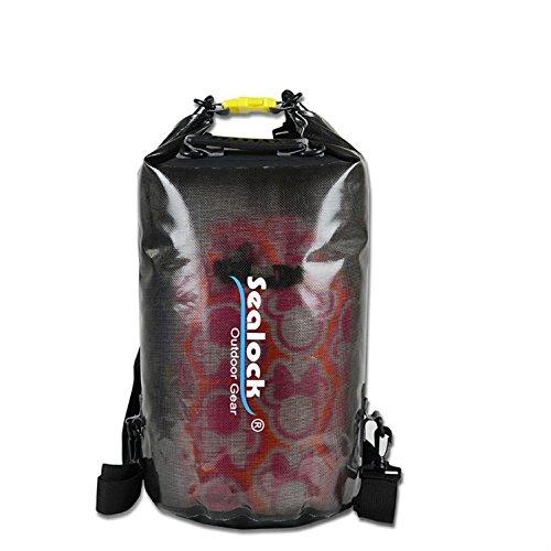 ishowstore Wasserdichte Dry Schwimmende Tasche für Bootfahren Kajak Rafting 20L Schwarz