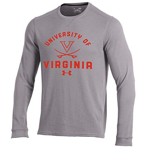 NCAA Virginia Tech Hokies Men's Waffle Knit Long Sleeve Tee, Medium, True Grey ()