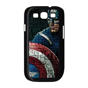 Captain America Samsung Galaxy S3 9300 Cell Phone Case Black MSU7194620