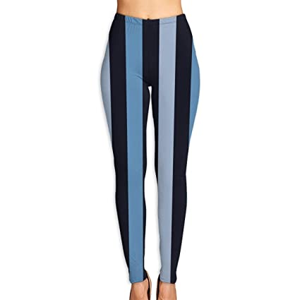5673beeedcbf78 Image Unavailable. Image not available for. Color: Xayeu Black Gray Blue  Stripes Yoga Pants for Women ...