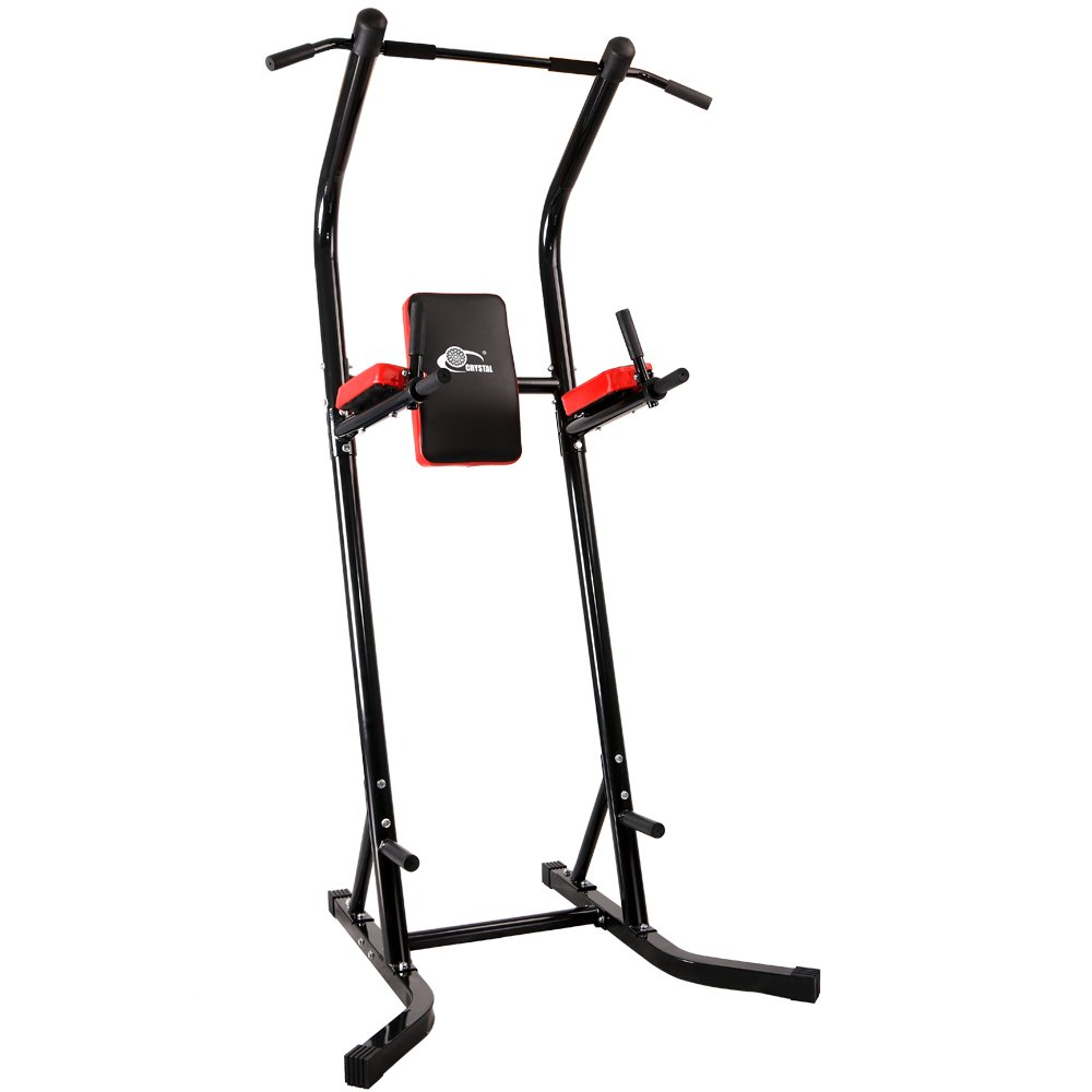 550 lbs Power Tower VKR Pull up Bar Sturdy Chin Up Station Dip Stand Fitness Equipment with Multi Exercise Functions (Black) by CRYSTAL FIT (Image #2)