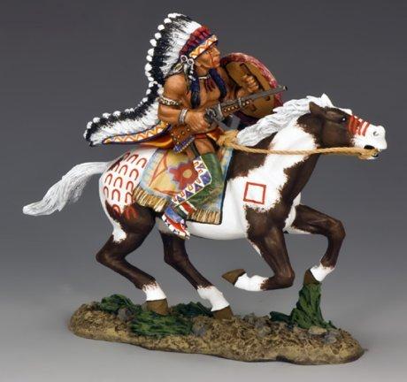 Little Wolf Wearing War Bonnet | The Real West | King & (Wearing Bonnet)