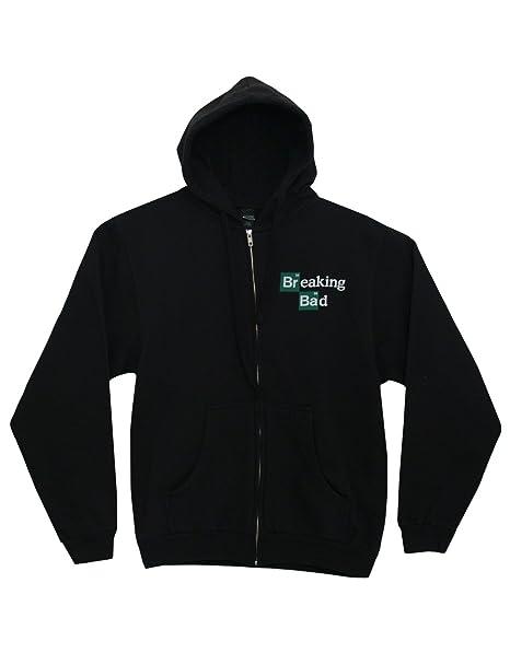 Breaking Bad Logo Hombres Zip Up Black Sudadera con Capuchat | S