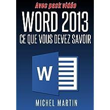 Word 2013: Avec pack vidéo