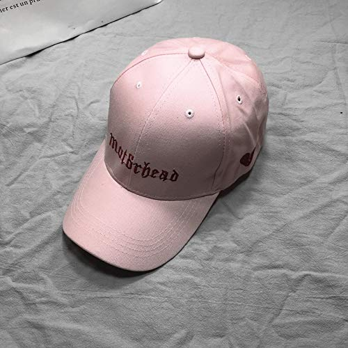 Unique hat Cap Women Girls Summer Base Casual Star Black Shade Light Board  Cap Spring Summer Students (Pink Broken Heart