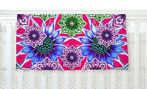 KESS InHouse Fernanda Sternieri Flower Power in Red Magenta Floral Fleece Baby Blanket 40 x 30 [並行輸入品]   B077ZVWZ6Y