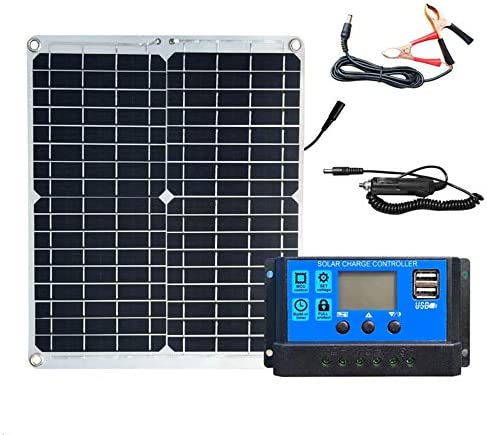 POWER BANKS 30 W 12 V monokristallines Silizium-Solarmodul-Kit: 1 30 W monokristallines Silizium-Solarmodul + 20 A LCD-PWM-Laderegler-Solarzelle + DC-Krokodilklemme